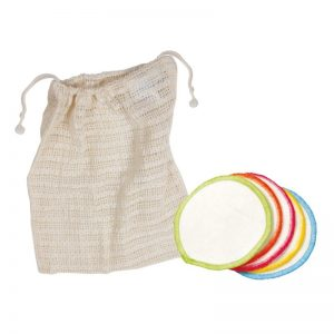 Reusable organic cotton make up wipes
