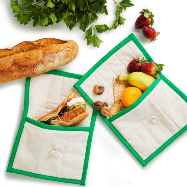 Reusable SWAG lunch bag with green trim
