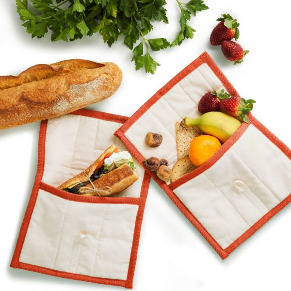 Reusable SWAG lunch bag with orange trim