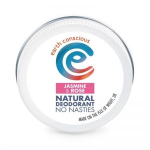 Jasmine and Rose natural deodorant in a tin