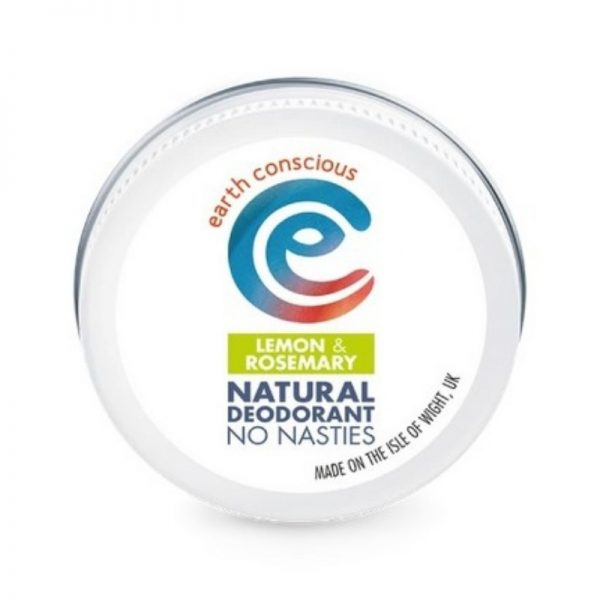 Lemon and Rosemary natural deodorant in a tin