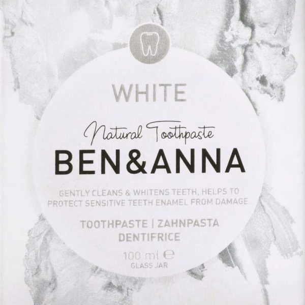 Whitening toothpaste no fluoride packaging