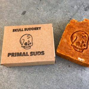Natural Vegan Bar of Soap by Primal Suds - Skull Suddery