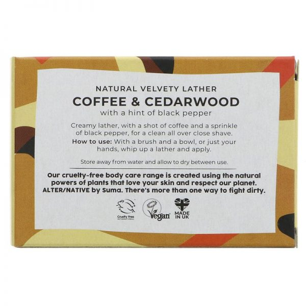 Coffee and cedarwood shaving soap